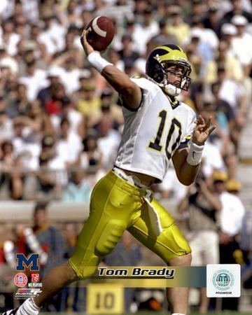 Tom Brady University of Michican Wolverines 1998 Action