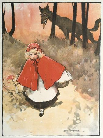 Scene from Little Red Riding Hood, 1900