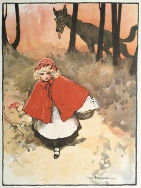 Scene from Little Red Riding Hood, 1900 by Tom Browne