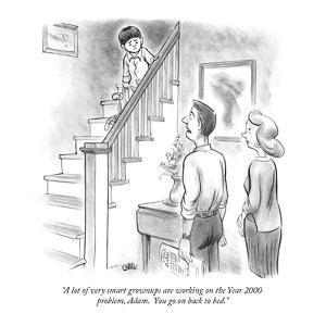 """""""A lot of very smart grownups are working on the Year 2000 problem, Adam. …"""" - New Yorker Cartoon by Tom Chalkley"""