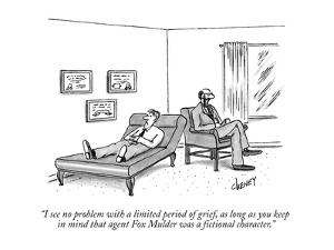 """""""I see no problem with a limited period of grief, as long as you keep in m…"""" - New Yorker Cartoon by Tom Cheney"""