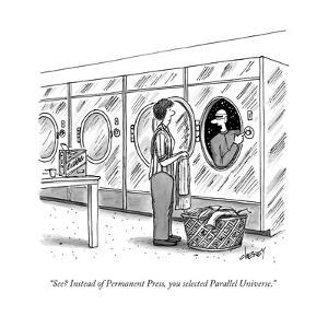 """""""See? Instead of Permanent Press, you selected Parallel Universe."""" - New Yorker Cartoon by Tom Cheney"""