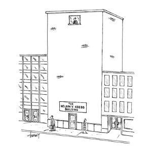 The Nelson V. Krebb Building - New Yorker Cartoon by Tom Cheney
