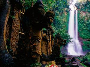 Air Terjun Gitgit Waterfall Near Lovina, Lovina, Indonesia by Tom Cockrem
