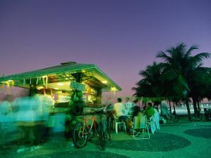 Copacobana Kiosk at Night, Rio De Janeiro, Brazil by Tom Cockrem
