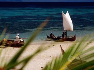 Fishing Boats, Lokobe Reserve, Madagascar by Tom Cockrem