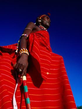 Samburu Warrior, Maralal, Kenya by Tom Cockrem