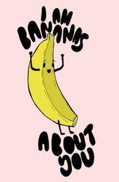 Bananas About You - Tom Cronin Doodles Cartoon Print by Tom Cronin