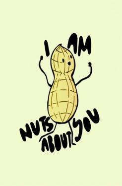 Nuts About You - Tom Cronin Doodles Cartoon Print by Tom Cronin