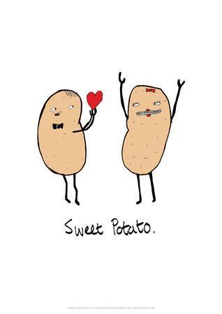 Sweet Potato - Tom Cronin Doodles Cartoon Print
