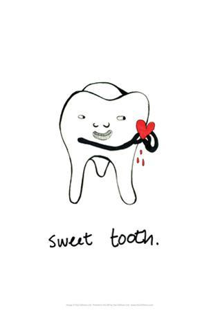 Sweet Tooth - Tom Cronin Doodles Cartoon Print by Tom Cronin