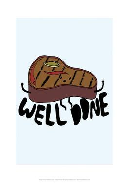 Well Done - Tom Cronin Doodles Cartoon Print by Tom Cronin