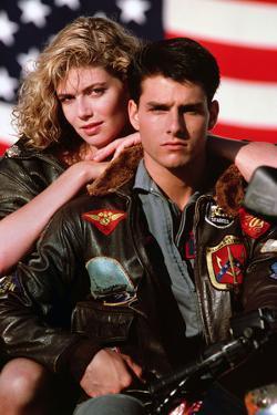 "TOM CRUISE; KELLY McGILLIS. ""Top Gun"" [1986], directed by TONY SCOTT."