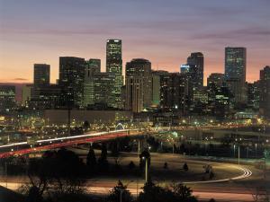 Skyline at Sunrise, Denver, CO by Tom Dietrich