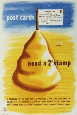 Post Cards Need a 2D Stamp by Tom Eckersley