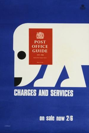The 'Post Office Guide July 1968', Charges and Services, on Sale Now 2'6 by Tom Eckersley
