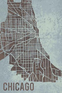 Chicago Street Map by Tom Frazier