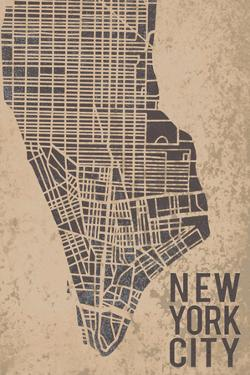 New York Street Map by Tom Frazier