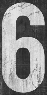 Retro Numbers - Six by Tom Frazier