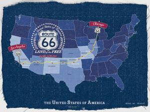 Route 66 Map by Tom Frazier