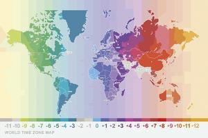 World Time Zone Map by Tom Frazier