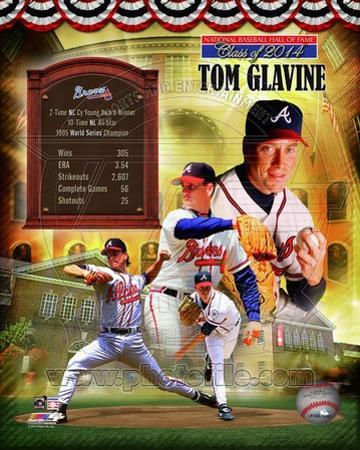 Tom Glavine Atlanta Braves MLB Hall of Fame Legends Composite