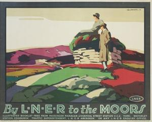By L.N.E.R. to the Moors Poster by Tom Grainger