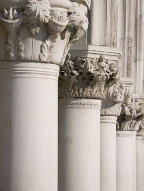 Column Sculptures of Doge's Palace by Tom Grill