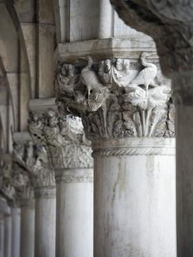 Columns of the Doge's Palace by Tom Grill