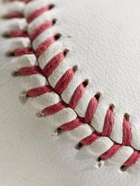 Lacing on Baseball by Tom Grill