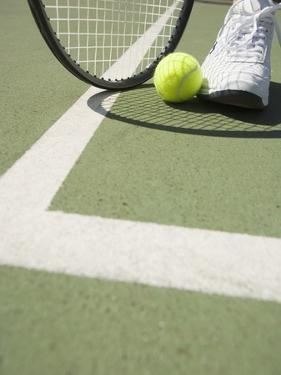 Tennis Player on Court by Tom Grill