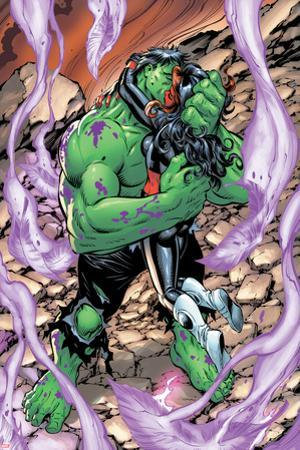 Incredible Hulks No.628: Hulk and Red She-Hulk Hugging and Kissing