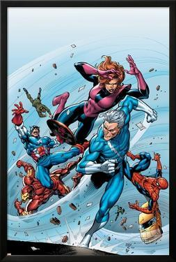 Marvel Adventures The Avengers No.19 Cover: Quicksilver by Tom Grummett