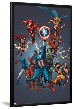 Official Handbook: Avengers 2005 Cover: Captain America, Hulkling and Cage by Tom Grummett