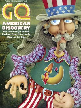 GQ Cover - February 1971 by Tom Hachtman