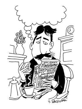 No-Fat Madeleines - New Yorker Cartoon by Tom Hachtman