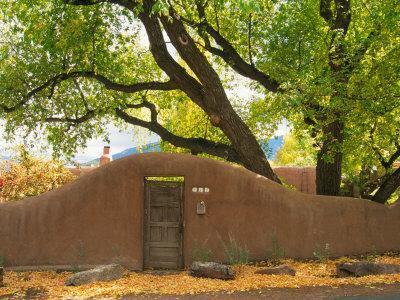 Contoured Adobe Wall, Santa Fe, New Mexico