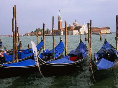 Gondolas near Piazza San Marco, Venice, Italy