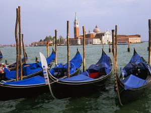 Gondolas near Piazza San Marco, Venice, Italy by Tom Haseltine