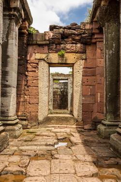 Thailand. Phimai Historical Park. Ruins of ancient Khmer temple complex. by Tom Haseltine
