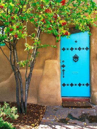 Turquoise Door, Santa Fe, New Mexico