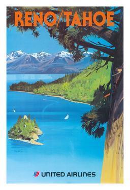 Reno, Nevada - Lake Tahoe, California - United Air Lines by Tom Hoyne