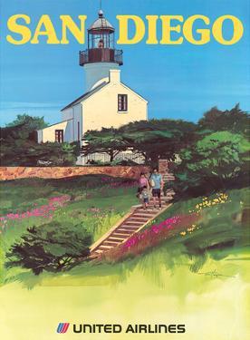 San Diego, California - Old Point Loma Lighthouse by Tom Hoyne