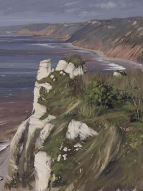 Towards Branscombe from Beer, March by Tom Hughes
