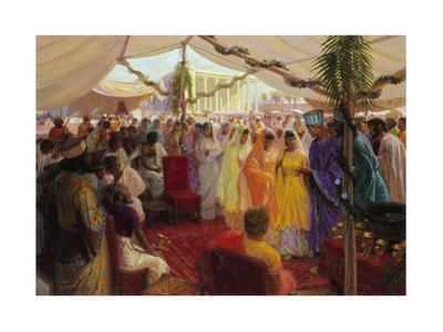 Alexander the Great Celebrates a Mass Marriage in Susa, Persia by Tom Lovell
