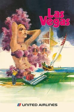 Las Vegas - Show Girls - United Airlines by Tom Lynch
