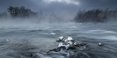 Frosty morning at the river by Tom Meier