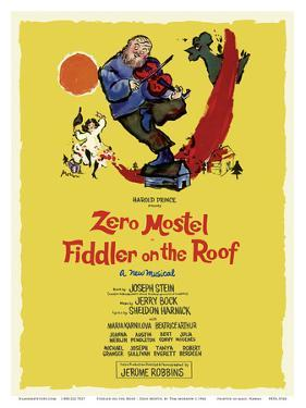 Fiddler on the Roof - Starring Zero Mostel - Musical by Harold Prince by Tom Morrow