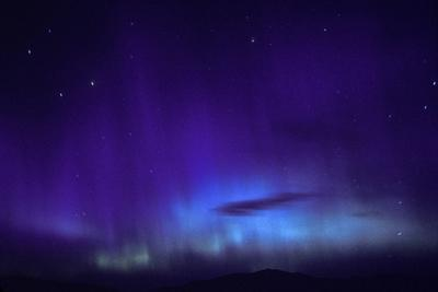 A Blue and Purple Aurora Borealis