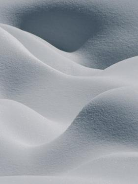 Snow Pillows Form an Abstract Scene by Tom Murphy